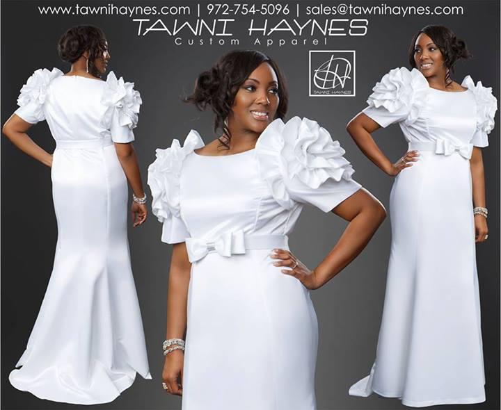 White-Rosette-Shoulder-Gown